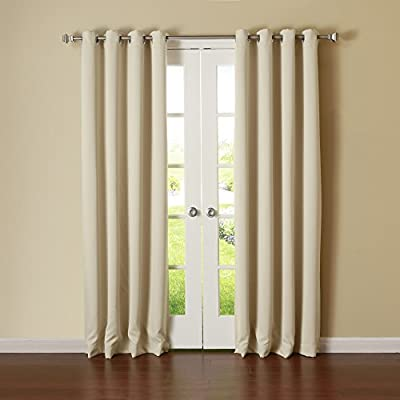 "Best Home Fashion Thermal Insulated Blackout Curtain - Stainless Steel Nickel Grommet Top - Beige - 52""W x 84""L - (1 Panel) - Curtains feature innovative fabric construction and are machine washable for easy care. Laboratory test shows these curtains insulate against heat and cold, saving you money & energy. Independent laboratory test also shows curtain blocks out 99.9% of light and 100% of UV ray. - living-room-soft-furnishings, living-room, draperies-curtains-shades - 41OmtyZjzTL. SS400  -"