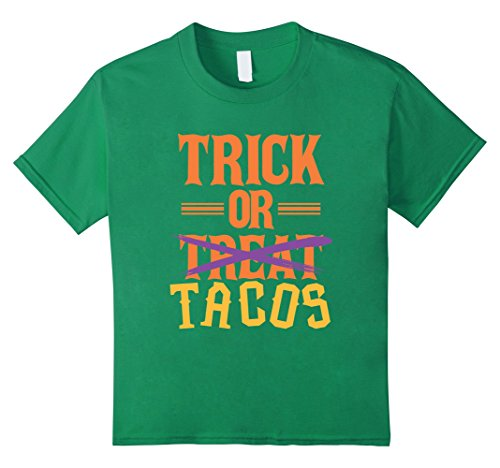 Costumes Sexy Taco (Kids FUNNY TRICK OR TREAT T-SHIRT Tacos Food Halloween Costume 8 Kelly)