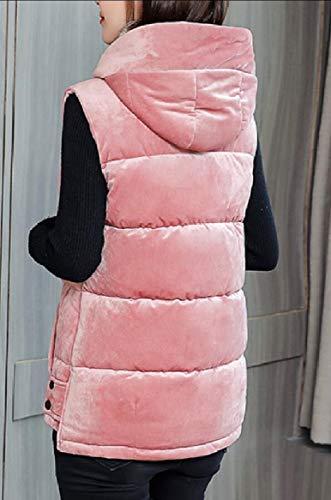 2 Sleeveless Zipper Pocket security Vest Velvet Women's Jacket Hooded Down zx5EwRvE