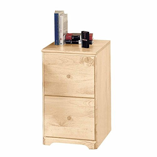 Renovators Supply Manufacturing Country Shaker Pine Office File Cabinet Storage Two Drawers, 26 1/2