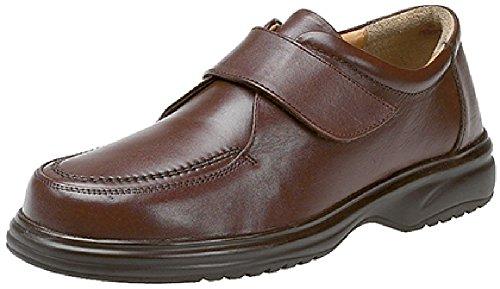 Ultra comodidad Roamers, Velcro poner zapato, tres colores Marrón - marrón