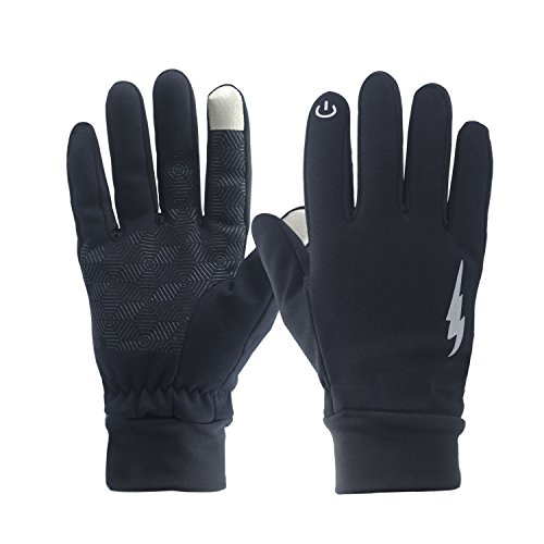Best Cold Weather Gloves - Winter Gloves, WeiMeet Winter Warm Thermal Gloves Outdoors Gloves Cycling Gloves Running Gloves Cold Weather Gloves Texting Gloves Driving Gloves for Men and Women (Elegant Black, XL)