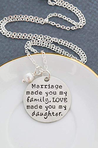 Amazoncom Daughter In Law Quote Necklace Dii Abc Wedding