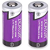CR123A Lithium Battery [Upgraded] Zeasun 3.7V PTC Protected Rechargeable 123/123A Li-ion Batteries with Case for Security Camera and Alarm System,700mAh,2 Pack