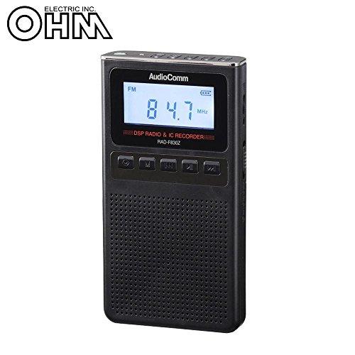 [해외]OHM AudioComm 녹음 기능이 있는 라디오 블랙 RAD-F830Z-K / OHM AudioComm Radio with Recording Function Black RAD-F830Z-K