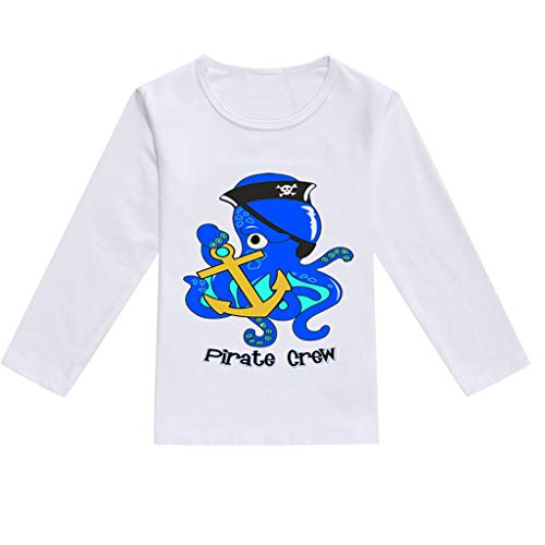 8e3b9de5 NUWFOR Toddler Baby Kids Boys Girls Spring Cartoon Print Tops T-Shirt  Casual Clothes(