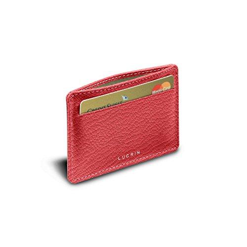 Lucrin Karten portemonnaie - Ziegenleder Klares