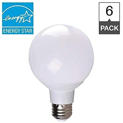 6W LED Light Bulbs - Simply Conserve   Globe Dimmable Lightbulbs 6W Light Bulb (40W Equiv.) 2700K Warm White Light   6 Pack (L06G252700K)