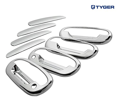 (Tyger ABS Triple Chrome Plated Door Handle Cover Fits 2004 Ford F150 Heritage/97-03 F150/97-02 Expedition 4 Doors with Passenger Side Keyhole with Key Pad)