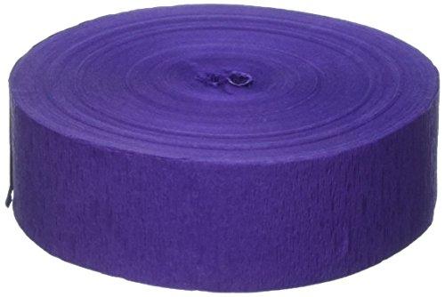 FR Jumbo Crepe Streamer (purple) Party Accessory  (1 count) (1/Pkg)