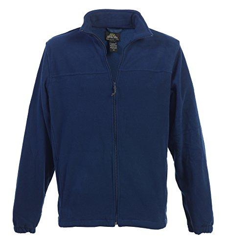 ip Polar Fleece Jacket, Navy, Large (Navy Blue Fleece)
