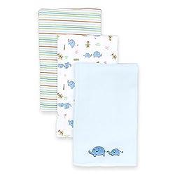 Spasilk Baby-Boys Newborn 3 Pack 100% Cotton Burp Cloths