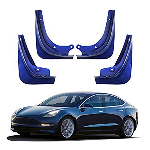 Tiakino 1 Set Car Mud Flaps Splash Guard Fenders Mudguard for Tesla Model 3 with Fixing Screws by Tiakino