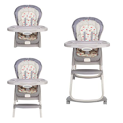 (HPCZZ Portable Baby Seat Baby Dinner Table Multifunction A Chair for Feeding Adjustable Folding Chairs for Children High Chair)