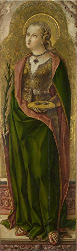 Make Saint Lucy Costume (Perfect Effect Canvas ,the Imitations Art DecorativePrints On Canvas Of Oil Painting 'Carlo Crivelli - Saint Lucy,about 1476', 18x58 Inch / 46x148 Cm Is Best For Bedroom Gallery Art And Home Gallery Art And Gifts)