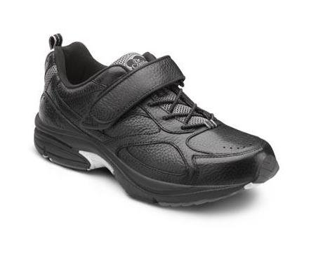 Dr. Comfort Winner Men's Therapeutic Diabetic Extra Depth Shoe Leather-and-Mesh Lace - Black -8.0 Wide (E/2E) Black Lace US Men