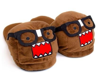 Domo Kun Nerd Face Japanese Animation Cartoon Adult Plush Slippers Small 5/6 from Concept One Accessories