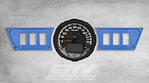 (STV Motorsports Custom Aluminum Blue Dash Panel for Polaris RZR XP 1000 with 6 Switch Openings (no switches included) )