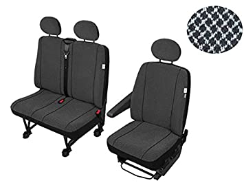 Sitzbezüge Schonbezüge SET SE Mercedes Sprinter Stoff schwarz