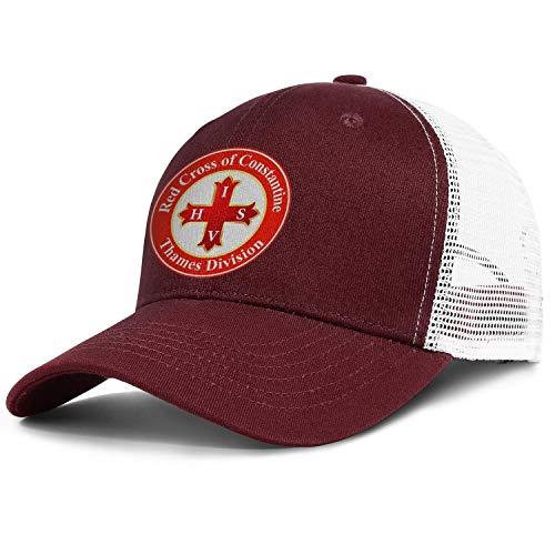 ZWZHI Red Cross of Constantine Mesh Snapback Hats Unisex Funny Adjustable Sun Caps
