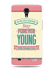 GRÜV Premium Case - 'Inspirational Motivational Wise Quote Citation Expression Saying : Stay Forever Young' Design - Best Quality Designer Print on White Hard Cover - for Samsung Galaxy Mega 6.3 i9200