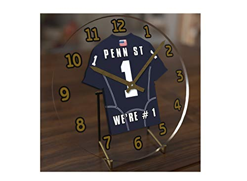 - FanPlastic College Football USA - We're Number ONE American Football Desktop/Table Clocks - Support Your Team !!! (Penn State Nittany Lions)