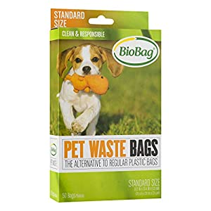 Bio Bag Premium Pet Waste Bags, Standard Size, 50 Count – Pack of 4 – PACKAGING OR COLOR MAY VARY