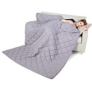Gut Health Shop 41On%2Bcs1nqL._SS300_ Qusleep Diamond Weighted Blanket - 48''72''15LB - Calm, Sleep Better and Relax naturally. Multiple Sizes and for Adult…