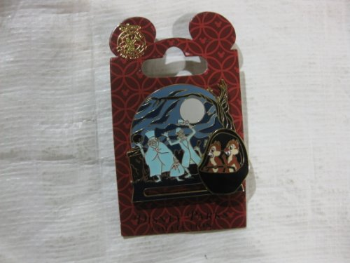 Disney Pin Chip and Dale on Haunted Mansion Ride Slider