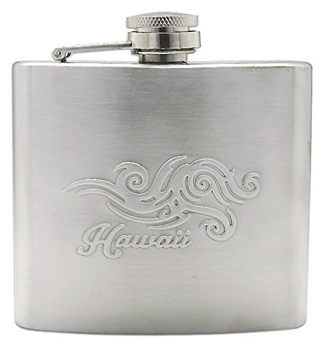 Horizontal Tribal Embossed Flask 5 Fl. Oz.