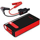 PUSHIDUN Jump Starter 500A Peak 10000mAh up to 3.5L Gas Engine, Emergency Auto Heavy Duty Jumper with Smart Charging Port, 12V UltraSafe Lithium Battery Booster Pack