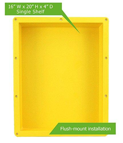 Cheap  Shower Niche Shelf Organizer Tray - Durable ABS, Waterproof & Leakproof Craftsmanship,..