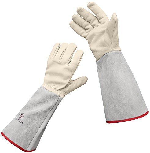 Euphoria Garden Thornproof Leather ROSE GARDENING Gauntlet Gloves - Medium (Best Tool For Cutting Barbed Wire)