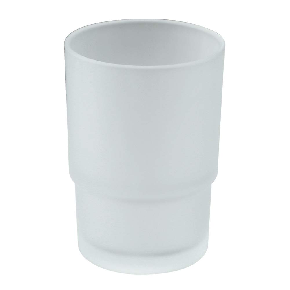 Tumbler Glass, Frosted Bathroom Rinsing Cup Replacement Tumbler for Aomasi Toothbrush Holder