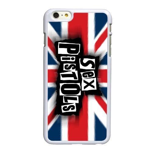 R7M04 Les Sex Pistols Z1T8VK coque iPhone 6 Plus de 5,5 pouces cas de couverture de téléphone portable coque blanche IG8VJK1ZO