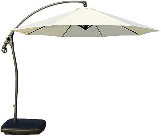 Paraguas del Patio al Aire Libre/sombrilla/sombrilla de jardín/sombrilla de plátano/giratoria/acodada (Verde, Rojo, Blanco): Amazon.es: Hogar