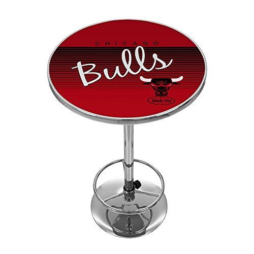 NBA Chicago Bulls Chrome Pub Table, One Size, Chrome (Chicago Bulls Nba Table)
