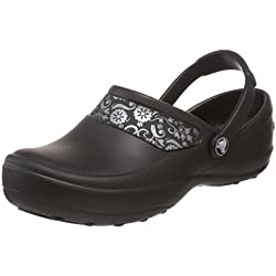 Crocs Women's Mercy Clog, Blacksilver, 9 M Us
