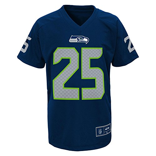 NFL Youth Boys 8-20 Seahawks Sherman R Short Sleeve Player Performance Name and Number Tee