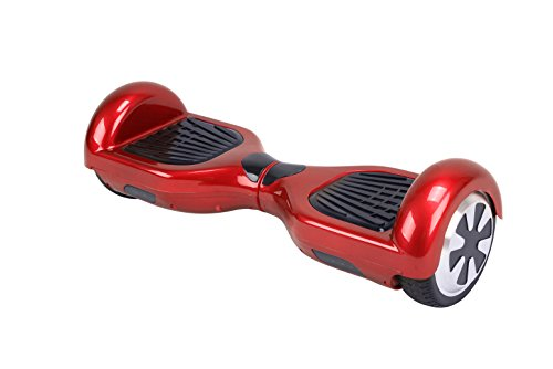 UL2272 Certified HOVERBOARD 6.5″ Smart Self Balancing Electric Scooter Personal Adult Transporter with LED Lights (Red)
