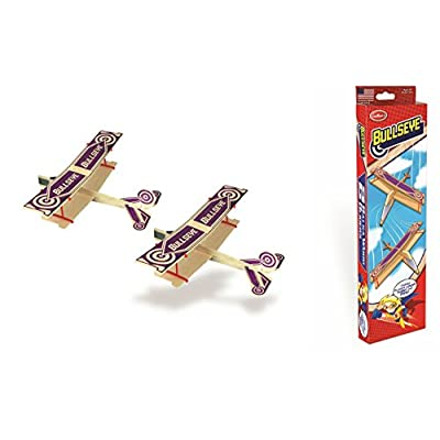 Guillow Balsa Wood Airplane Set - 3 Balsa Airplane Kits in One Set - Super Hero Twin Pack, Sky Streak Twin Pack, and Bullseye Twin Pack - 6 Planes Included: Toys & Games