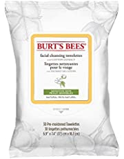 Burt's Bees Sensitive Facial Cleansing Towelettes with Cotton Extract, 30 Count (packaging may vary)