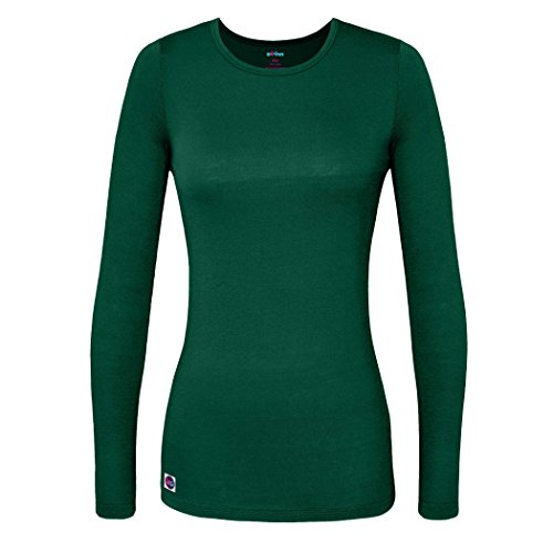 Sivvan Women's Comfort Long Sleeve T-Shirt / Underscrub Tee - S8500 - Hunter Green - XS