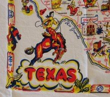 State Dish Towel - Texas State Map Souvenir Dish Towel