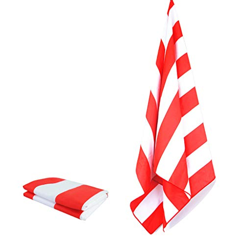 (Iusun Multicolor Printing Beach Towels Mat Blanket Wall Stripe For Travel Quick Dry Towel For Swimmers For Kids & Adult- Shipping From USA (Red))