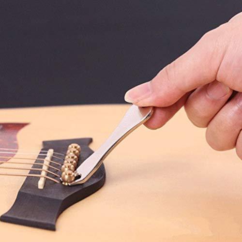 Guitar String Nail Peg Pulling Puller Bridge Pin Remover Handy Tool silver ()