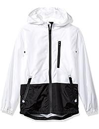 Boys' Big Colorblock Water Resistance Windbreaker Hooded Jacket