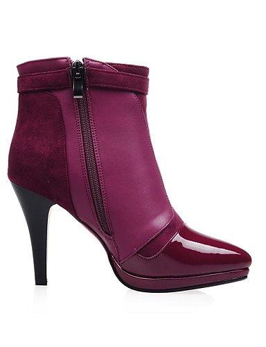 Patentado Zapatos Tacón Stiletto Uk5 5 Black Casual Eu38 Plataforma A De us4 Cuero Vestido 2 Eu34 Semicuero La Botas 5 Moda Black Puntiagudos Cn33 5 Xzz Uk2 5 Cn38 Mujer 4 us7 6dwIqnAtt