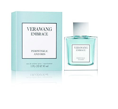 Vera Wang Embrace Eau de Toilette Periwinkle and Iris Scent 1 Fluid Oz. Women's Cologne Passionate, Floral and Sparkling (Vera Wang Pure Perfume Spray)