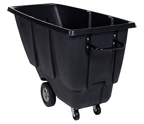 Vestil TDT-50-MD-BLACK Medium Duty Tilt Truck, 1/2 cu. yd., Black